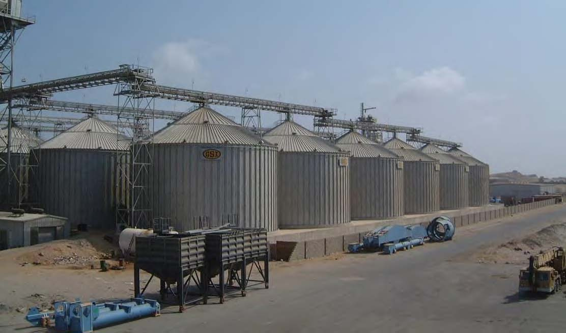 inspection of a grain silo complex